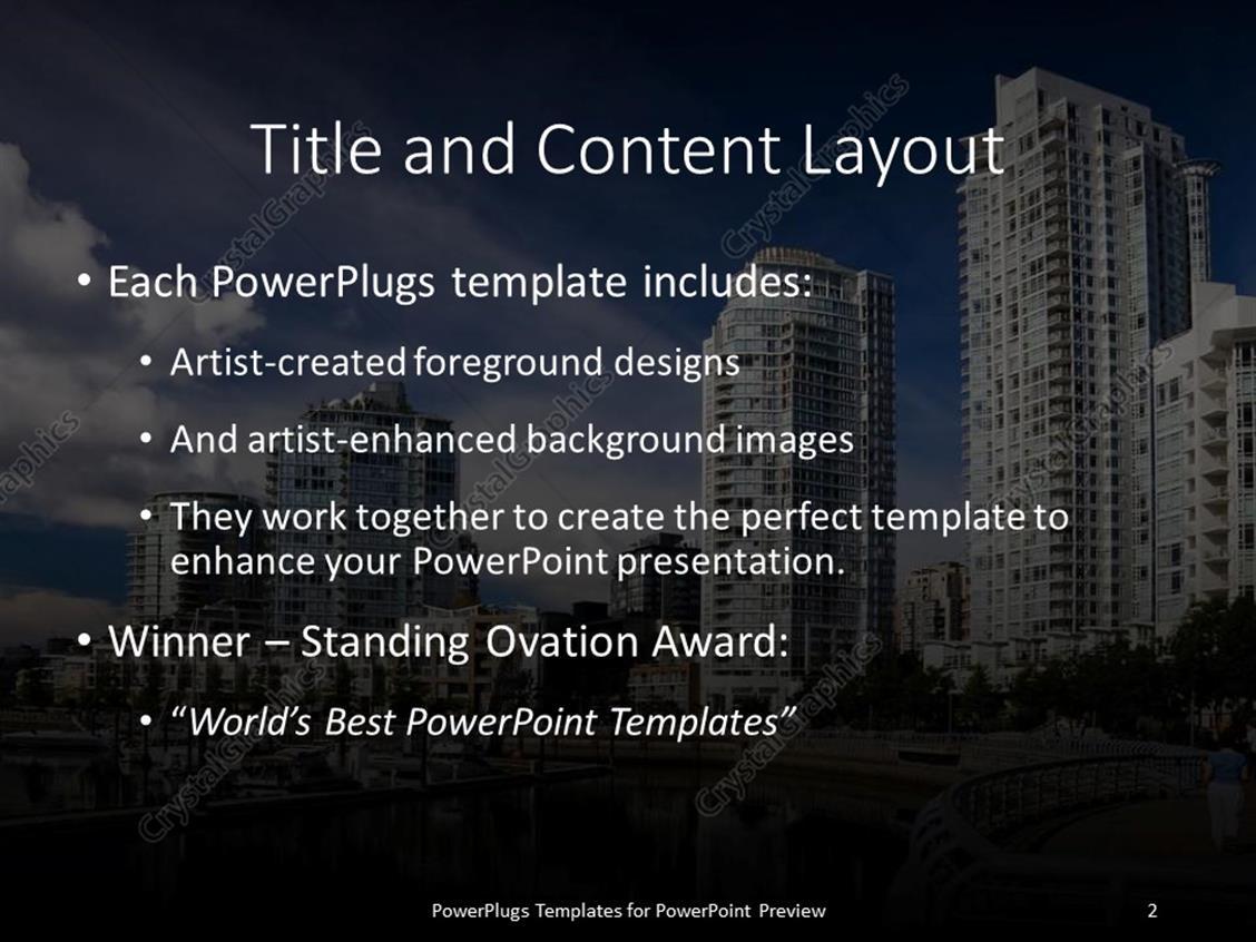 Powerpoint template big buildings in city urban living city powerpoint products templates secure toneelgroepblik Gallery