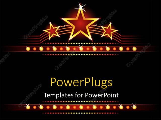 powerpoint template big stars background with stars and lights
