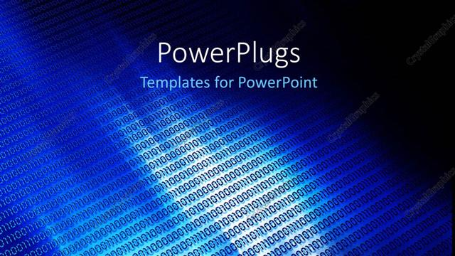 Powerpoint template a bluish background with alot of binary powerpoint template displaying a bluish background with alot of binary numbers toneelgroepblik Gallery