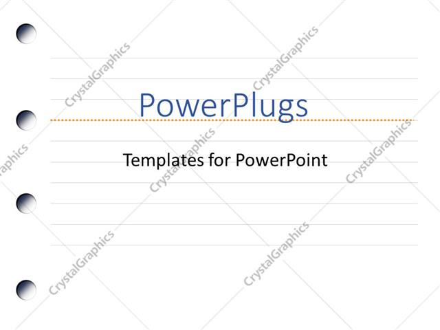 Powerpoint Template Binder Paper Graphics Notebook For Writing
