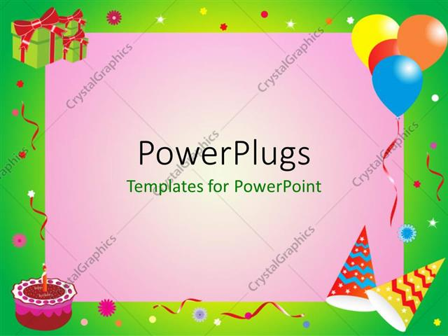 Powerpoint Template A Birthday Celebration With Pinkish Background