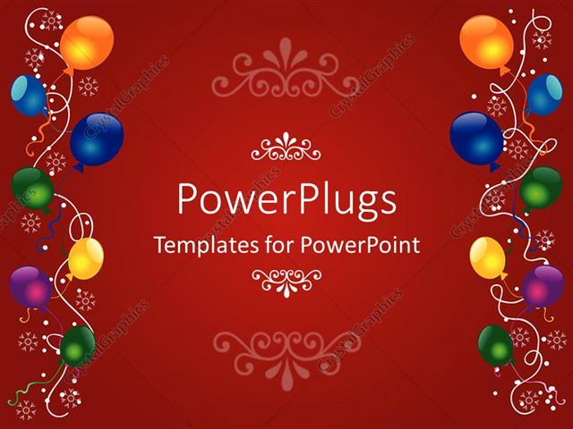 Powerpoint Template A Birthday Celebration With Reddish