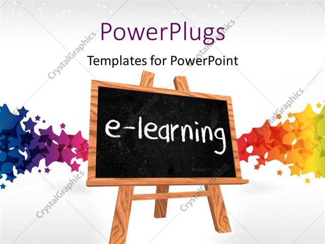 Powerpoint template a blackboard saying e learning with colorful powerpoint template displaying a blackboard saying e learning with colorful background toneelgroepblik Gallery