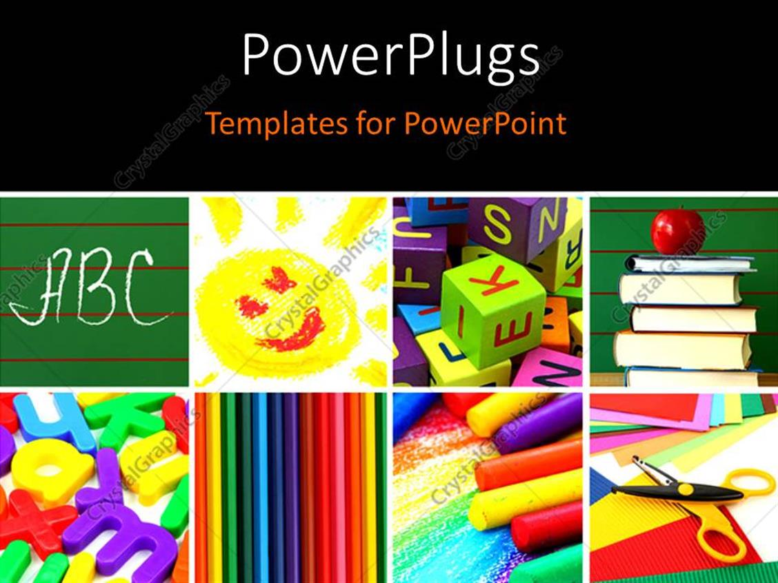 PowerPoint Template Displaying a Blackish Background with a Number of Bullet Points