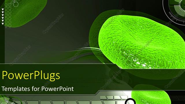 Powerpoint Template A Magnified View Of Green Colored Red Blood