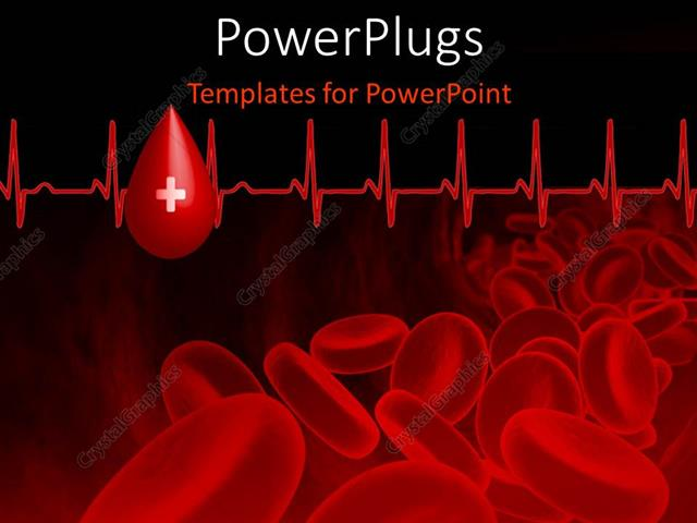 Powerpoint template blood platelets with heart beat pulse on black powerpoint template displaying blood platelets with heart beat pulse on black background toneelgroepblik Gallery