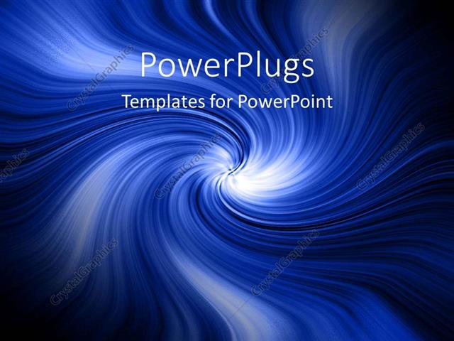 PowerPoint Template: blue abstract swirls water tornado clouds white ...
