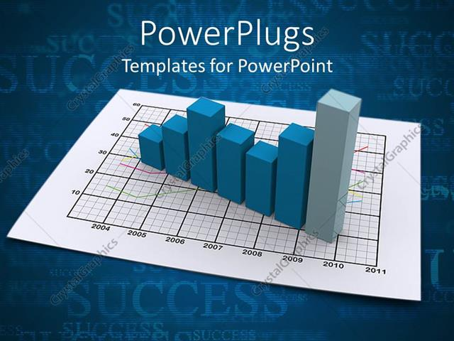 Powerpoint template a blue bar chart on a white graph paper 2873 powerpoint template displaying a blue bar chart on a white graph paper toneelgroepblik Choice Image