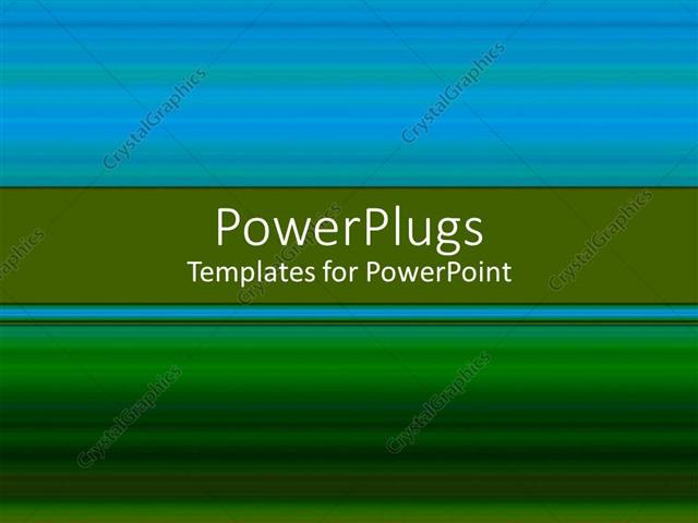 Powerpoint Template Blue And Green Background With Place