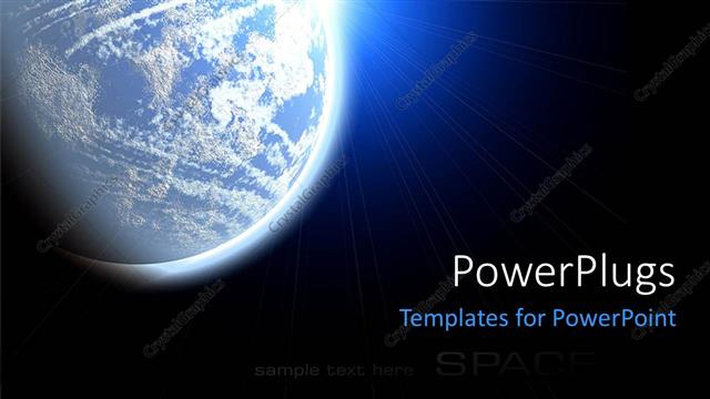 Powerpoint template the view of earth from the space 3780 powerpoint template displaying the view of earth from the space toneelgroepblik Images