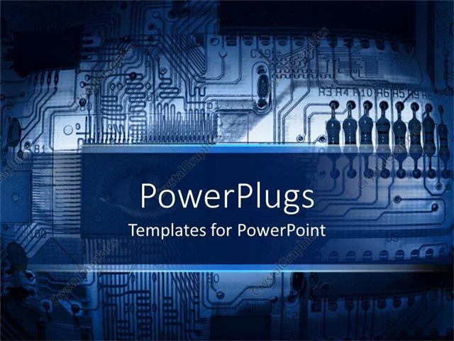 Powerpoint template blue printed circuit board motherboard powerpoint template displaying blue printed circuit board motherboard computer component toneelgroepblik Choice Image