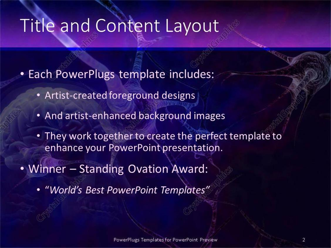 Powerpoint template blue and purple neurons connecting in brain for powerpoint products templates secure toneelgroepblik Gallery