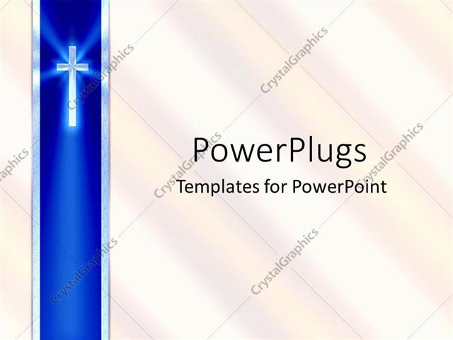 Powerpoint template blue ribbon with cross and white background 3791 powerpoint template displaying blue ribbon with cross and white background toneelgroepblik Images