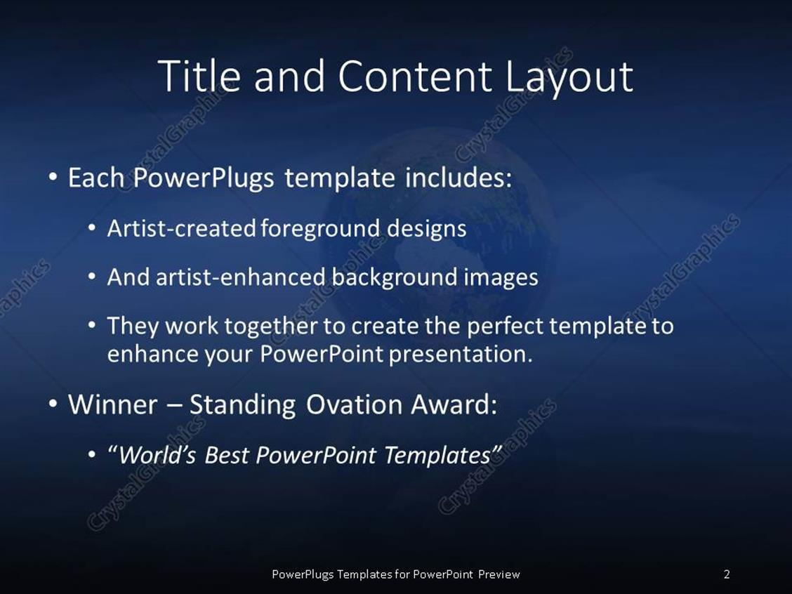 Powerpoint template blue sky and earth globe with reflection in powerpoint products templates secure toneelgroepblik Gallery