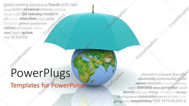 Powerpoint template a blue umbrella protecting the earth 23968 powerpoint template displaying a blue umbrella protecting the earth toneelgroepblik Images