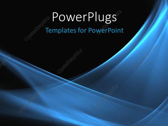 Powerpoint template blue wave pattern on black background 931 powerpoint template displaying blue wave pattern on black background toneelgroepblik Images