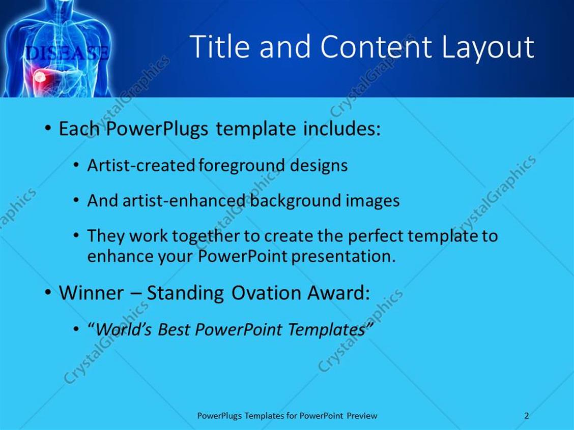 PowerPoint Template: Blue x-ray of chest and abdomen with tumor in ...