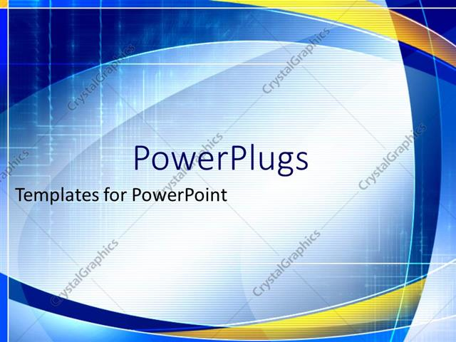 Powerpoint Template Blue And Yellow Abstract Geometric Shapes On A