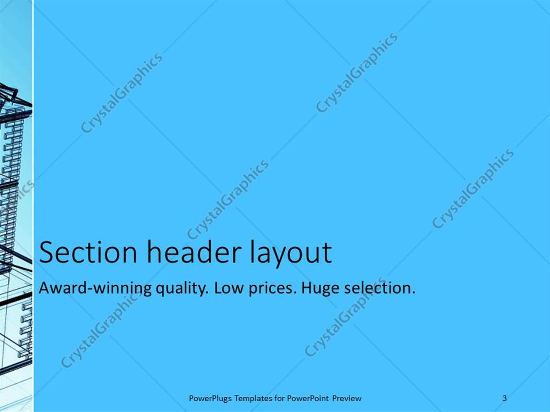 Powerpoint template blueprint of an abstract modern building powerpoint products templates secure malvernweather Image collections