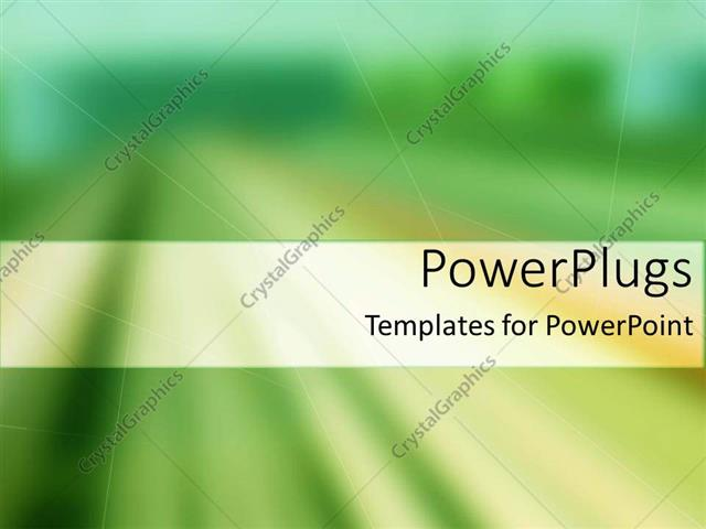 PowerPoint Template Displaying a Blurred Background with Place for Text