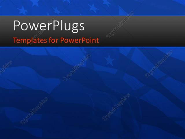 powerpoint template blurred view of the american flag with the