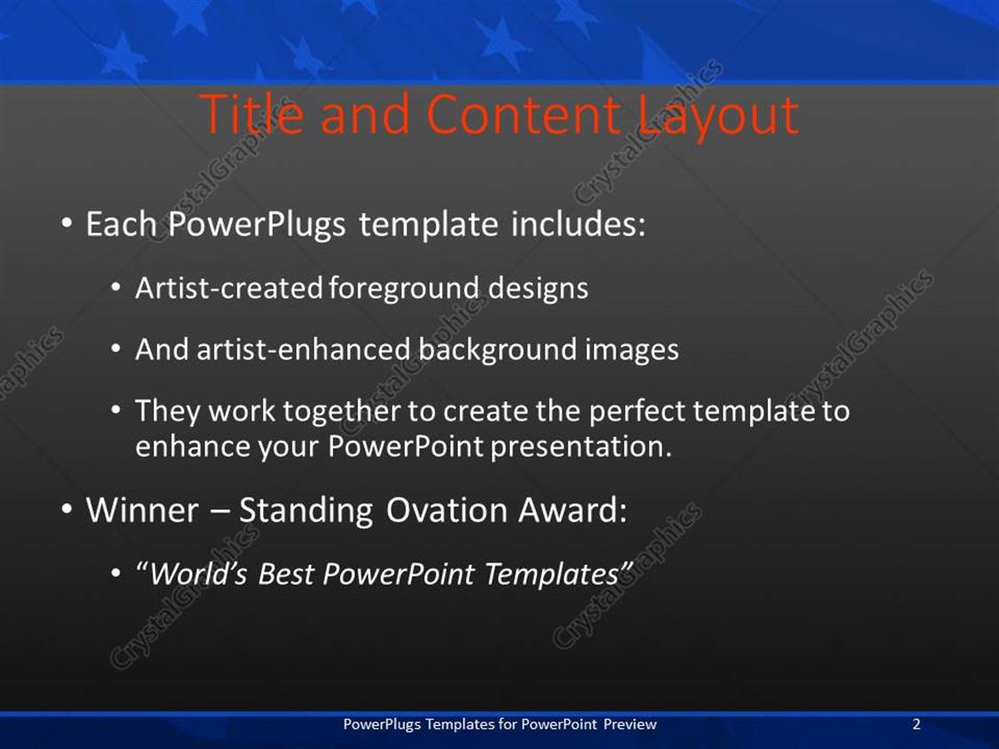 PowerPoint Template: Blurred view of the American flag with the ...