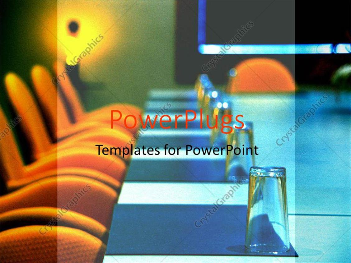 setting up a powerpoint template - powerpoint template board room set up for a meeting with
