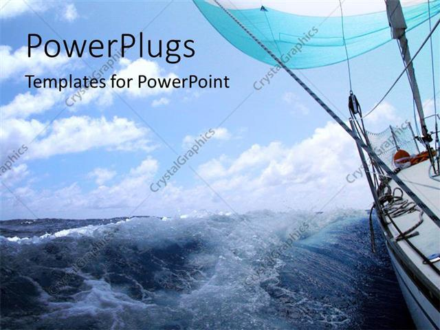 Powerpoint template boat sailing in atlantic sea with high tides powerpoint template displaying boat sailing in atlantic sea with high tides toneelgroepblik Choice Image