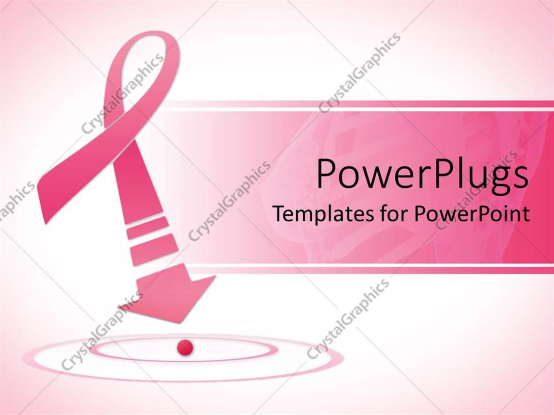 Powerpoint template breast cancer awareness pink ribbon for Breast cancer ppt template