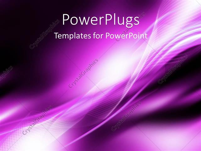 Powerpoint Template Bright White Curved Patterns On Purple