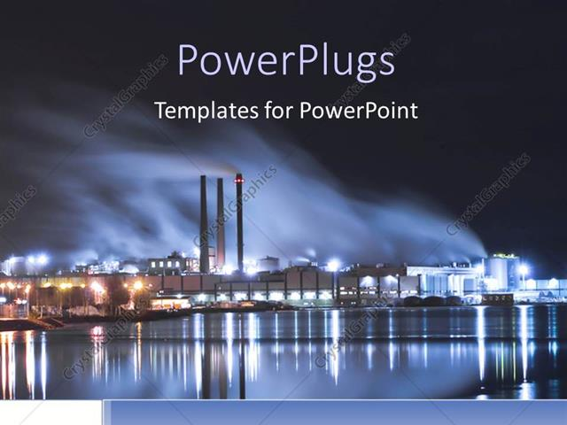 Powerpoint template brightly lit industrial district at night 17192 powerpoint template displaying brightly lit industrial district at night toneelgroepblik Images