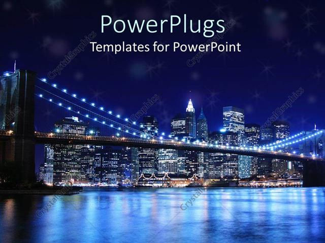 Powerpoint template brooklyn bridge and new york city skyline at powerpoint template displaying brooklyn bridge and new york city skyline at night toneelgroepblik Image collections