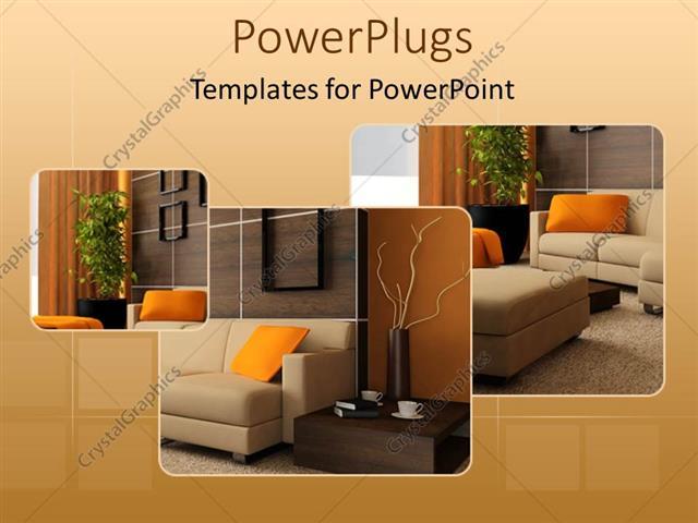 Powerpoint template brown wood interior design of a beautiful powerpoint template displaying brown wood interior design of a beautiful living room toneelgroepblik Gallery