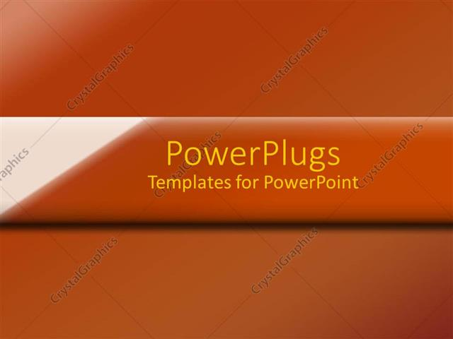PowerPoint Template Displaying a Brownish Background with Place for Text in the Middle