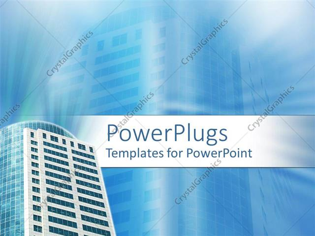 Powerpoint Template A Building With Its Reflection In The