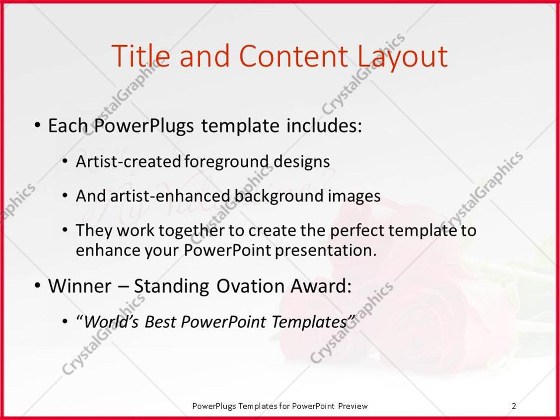 Magnificent valentine powerpoint template photos resume ideas powerpoint template a bunch of red roses beside a valentine card alramifo Gallery