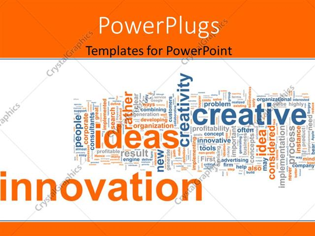 Powerpoint template business background with keywords as innovation powerpoint template displaying business background with keywords as innovation idea creative corporate toneelgroepblik Gallery