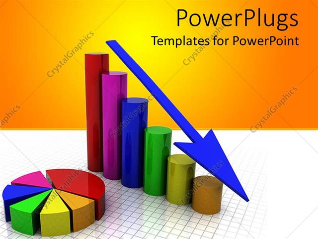 Powerpoint template a business graph showing gradually decrease in powerpoint template displaying a business graph showing gradually decrease in sales with yellow toneelgroepblik Image collections