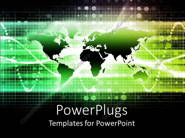Powerpoint template business networking communications theme with powerpoint template displaying business networking communications theme with flat world map and graph toneelgroepblik Images