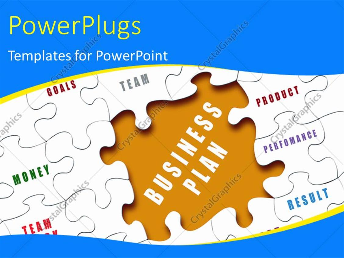 PowerPoint Template: The business plan puzzle piece missing and a ...