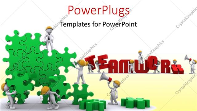Powerpoint template business team work building a puzzle 29084 powerpoint template displaying business team work building a puzzle toneelgroepblik Image collections