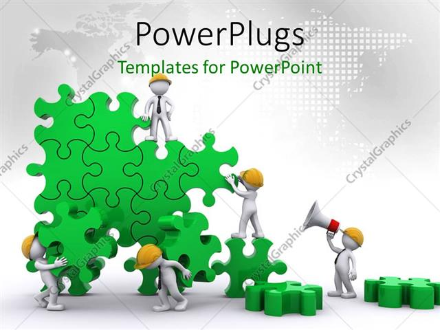 Powerpoint template business team work building puzzles with world powerpoint template displaying business team work building puzzles with world map in background toneelgroepblik Image collections