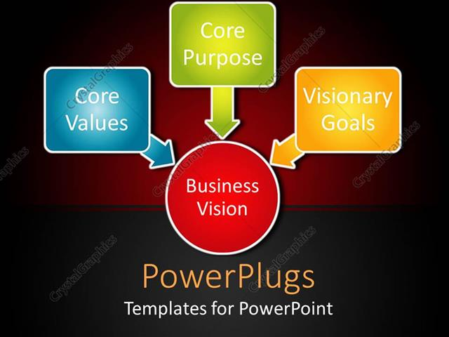Powerpoint template business theme with diagram with red circle powerpoint template displaying business theme with diagram with red circle business vision and three toneelgroepblik Gallery
