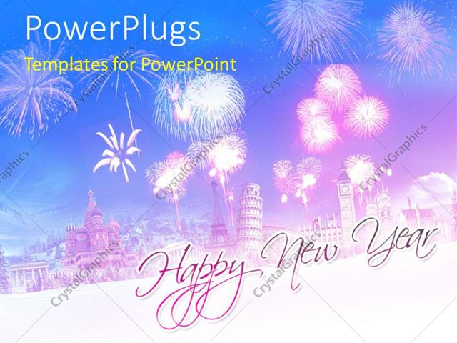 powerpoint template a celebration mode in the background with place