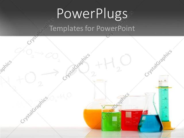 PowerPoint Template: Chemical equations on chalkboard with ...