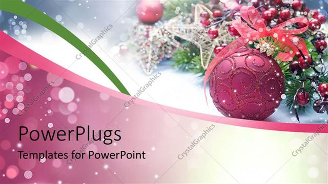 Powerpoint Template Christmas Decoration With Beautiful Ornaments