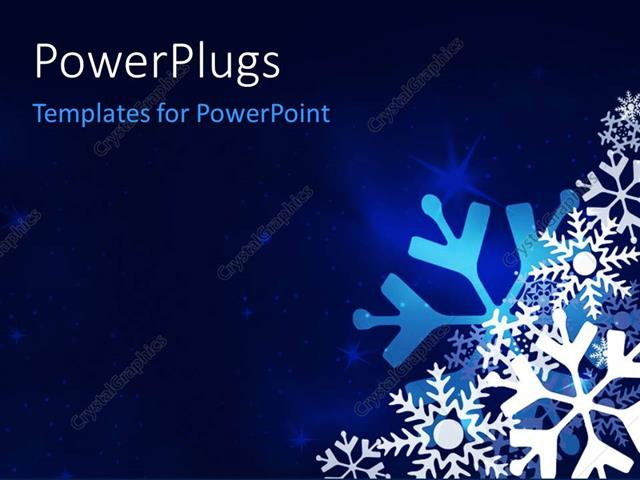 powerpoint template christmas festive blue background with