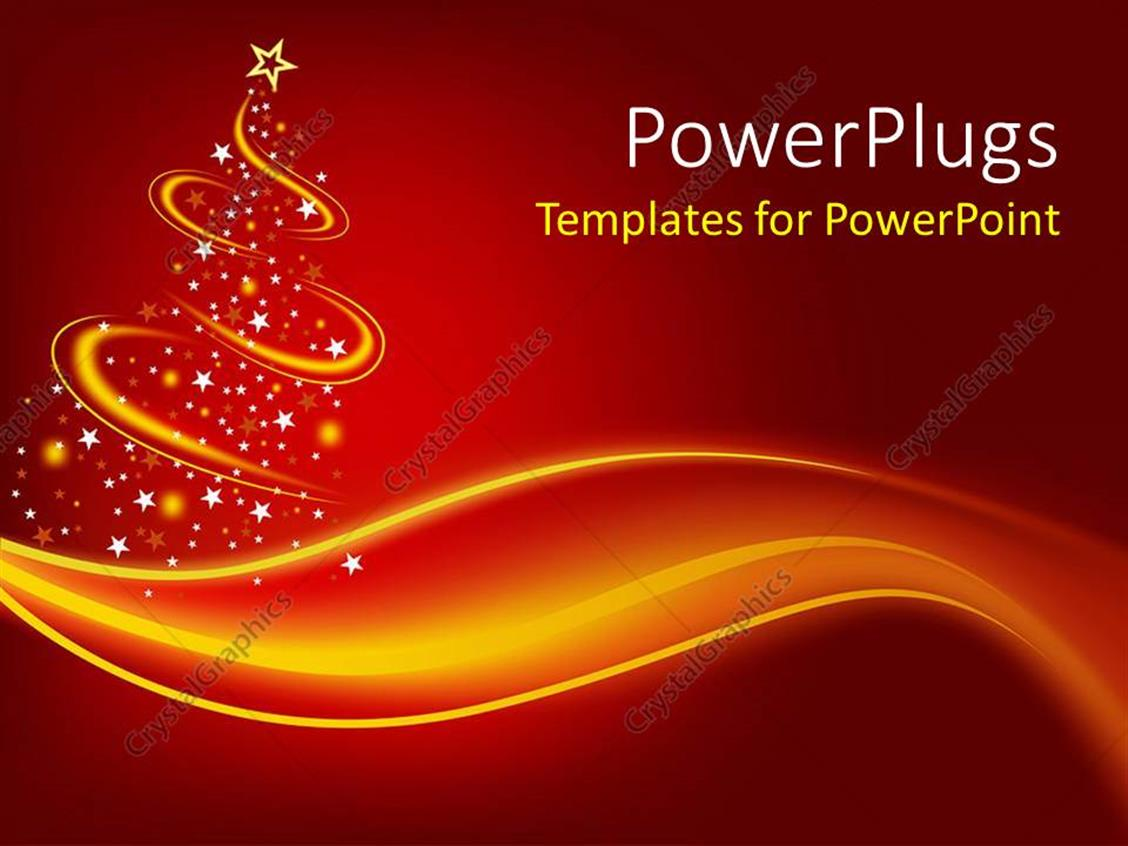 Powerpoint template christmas theme with abstract christmas three powerpoint template displaying christmas theme with abstract christmas three with gold waves and glowing point with toneelgroepblik Images