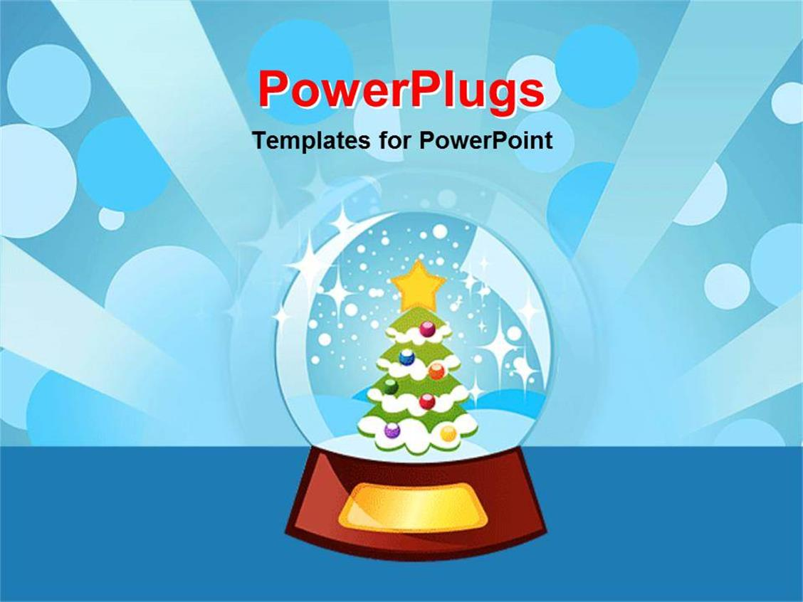 300 animated christmas powerpoint templates w animated christmas elegant theme enhanced with christmas tree inside of snow globe shining light blue background template size toneelgroepblik Images