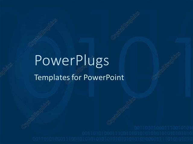 Powerpoint Template Circles And Digital Numbers Fading In The Dark